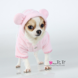 Pretty pet Bunny Badjas Roze