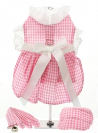 Pink Gingham Harnas Dress