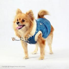 Pretty Pet Classic Check blauw jas