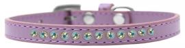 Halsband met strass Lavendel