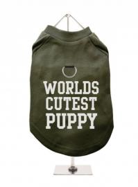 Harnas T-Shirt World`s Cutist puppy Olijf