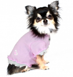 Pink Heart Ruffle T-shirt