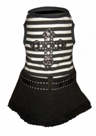 Goth black Mini Dress