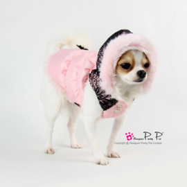 Pretty Pet Fancy Lace jas Roze