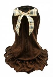 Chocolate brown eyelet dress