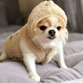 Pretty Pet strikjes trui Beige