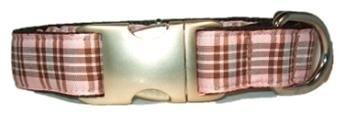 Bella Barkley Schots roze halsband en lijn
