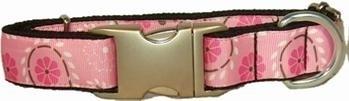 Bella Barkley Bloem roze halsband en lijn