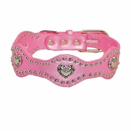 Pink Heart Wave Halsband