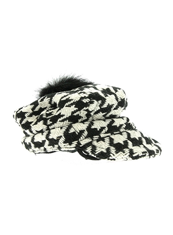 Houndstooth Pet zwart