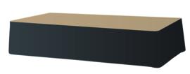 Podiumrok ongeplooid PR 20 x 410 cm Dena, Kleur 12 Zwart