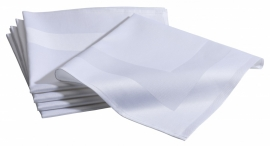 Servet Dena 50 x 50 katoen, kleur wit, met satijnband