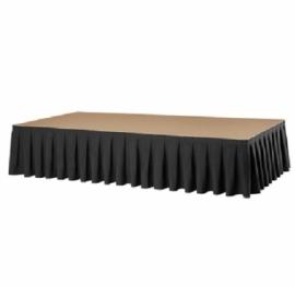 Podiumrok, Boxpleat, kleur zwart 20 x 410 cm