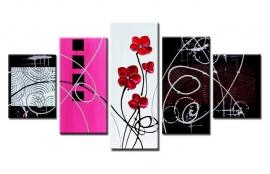 Abstract Bloem Roze