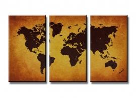 Wereldkaart Bruin