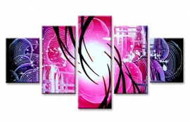 Abstract Roze Paars