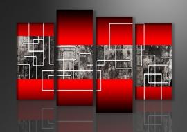 Modern Rood Grijs