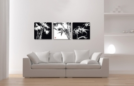 Bamboe Zwart Wit Schilderij