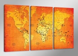 Wereldkaart Oranje
