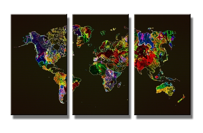 Wereldkaart Colors 2