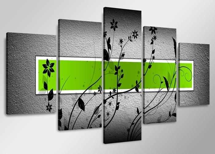 Abstract Grijs Groen