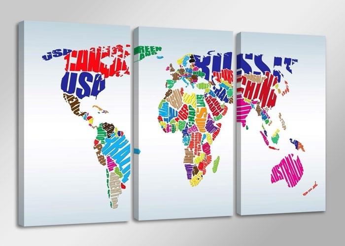 Wereldkaart Landnamen