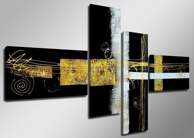 Abstract Zwart / Geel