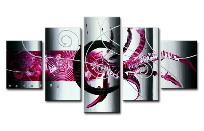 Abstract Roze Zilver
