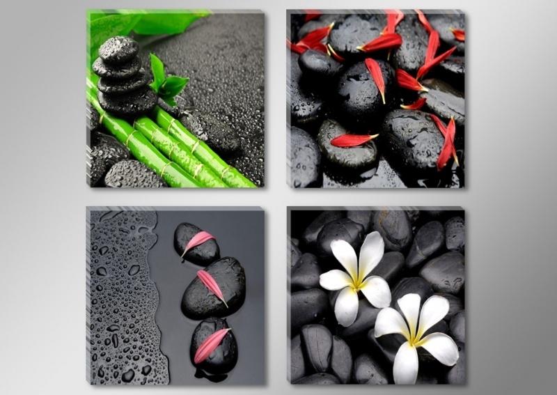 Zwarte Stenen Bloemen