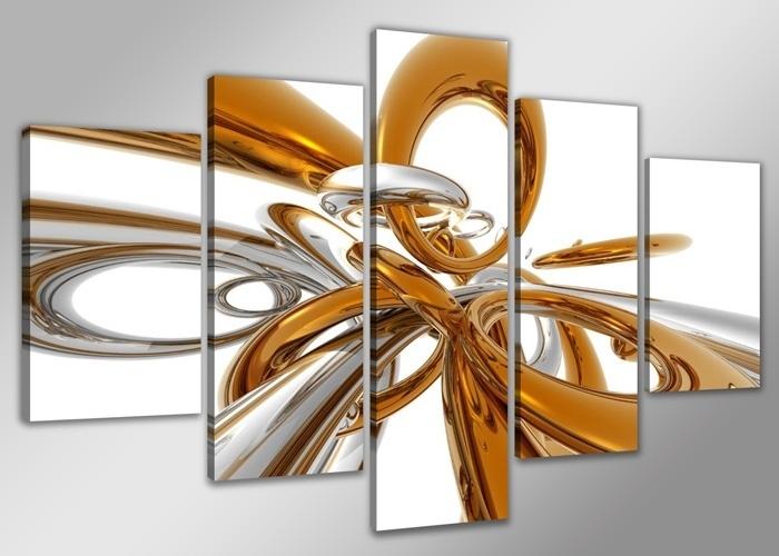 Abstract Goud Zilver