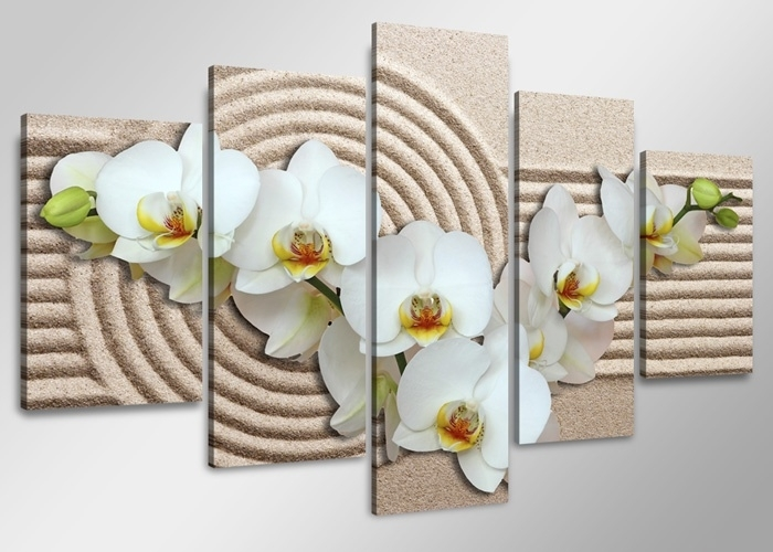 Witte Orchidee Strand