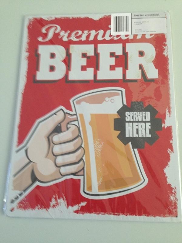 Beer Bier 30x40cm