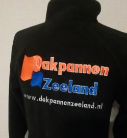 Bedrijfskleding fleece vest zwart maat M met logo borduring
