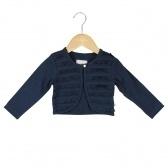 Donkerblauw vestje met roezels maat 104 Ducky Beau