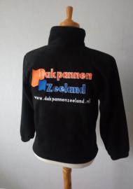 Bedrijfskleding fleece vest zwart maat XS met logo borduring
