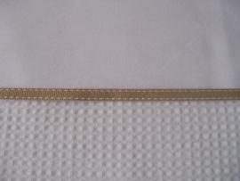 Wieglakentje wit met beige bandje 75 x 100 cm