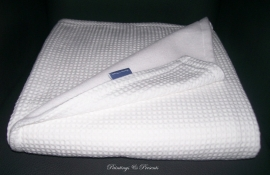 Wiegdeken 75 x 100 cm wit wafelstof en fleece