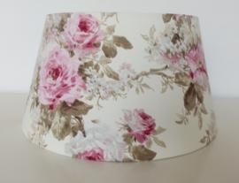 Lampenkap maat L `English Rose` 40 x 21 x 30 cm