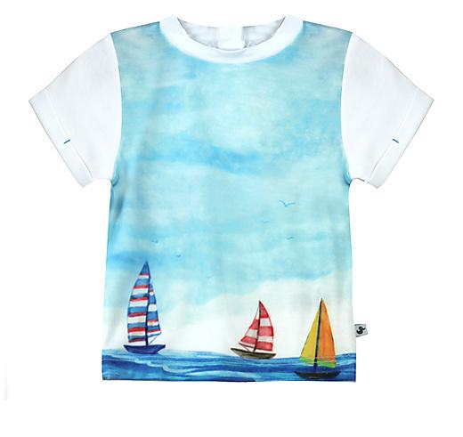 Jongens shortsleeve/ shirt wit bootjes Ducky Beau maat 68