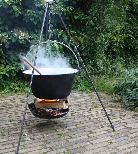 Koken in de buitenketel