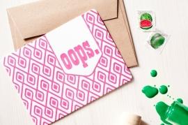 Oops - Letterpress pink
