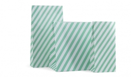 Blokbodem zakken Mint Stripes