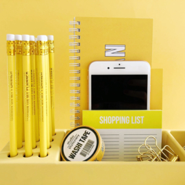 Desk organizer Pens yellow