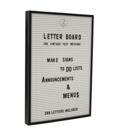 Letterbord JAY WIT inclusief letterset