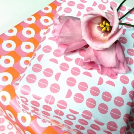 Wrapping sheets - Pink & Orange