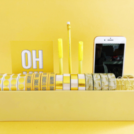 Desk organizer Washi yellow