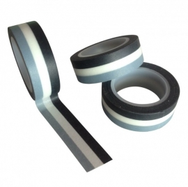 Masking Tape Streep Zwart/wit/grijs