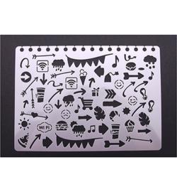Stencil Bulletjournal doodles