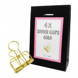 BINder clips Gold