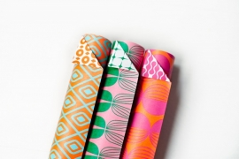 Wrapping sheets -Bright Colours